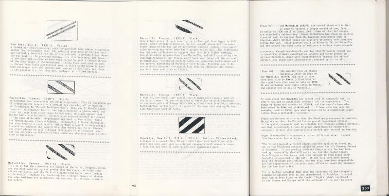 Croix ou lignes parallèles,au tampon, sur étiquettes PAR AVION Barres10