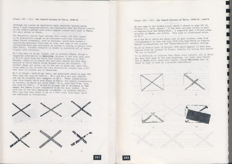 Croix ou lignes parallèles,au tampon, sur étiquettes PAR AVION Paris11