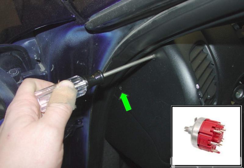 Dépose du commutateur d'éclairage sur boxster [Dispo ICI !] Pic110