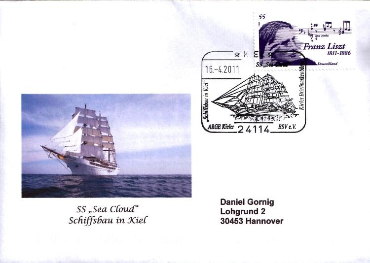 Schiffe im Stempel Schiff11