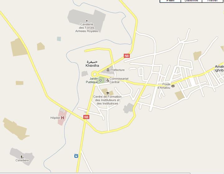 Carte Ville Khenifra Khenif11