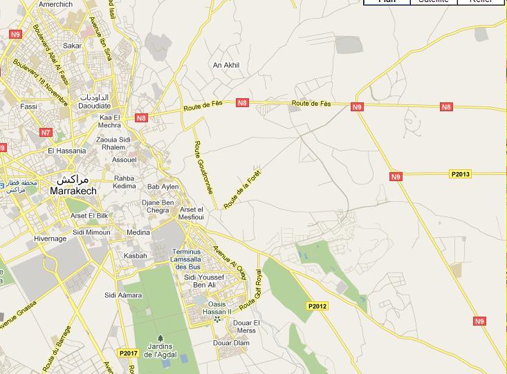 carte - Carte ville de Marrakech Marrak11