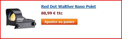 Présentation red dot Nano Walther sur Zoraki Light Captur10