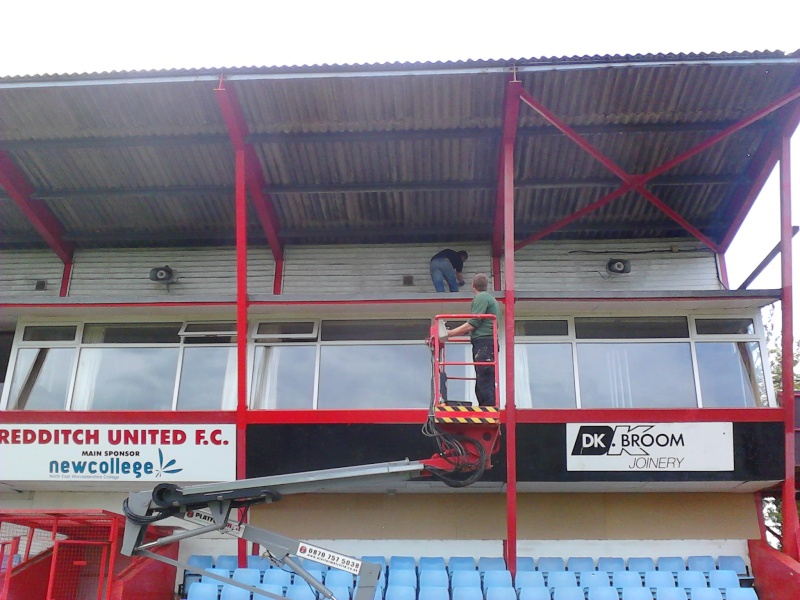 Painting the main Stand 2011-041
