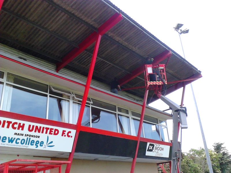 Painting the main Stand 2011-043