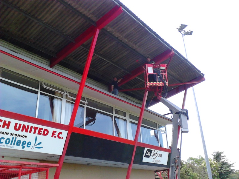Painting the main Stand 2011-044