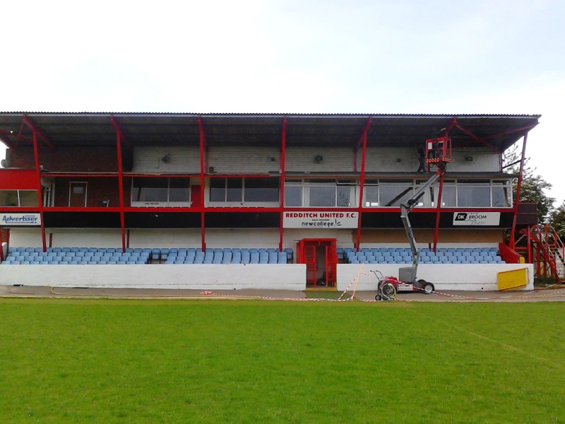 Painting the main Stand 2011-046