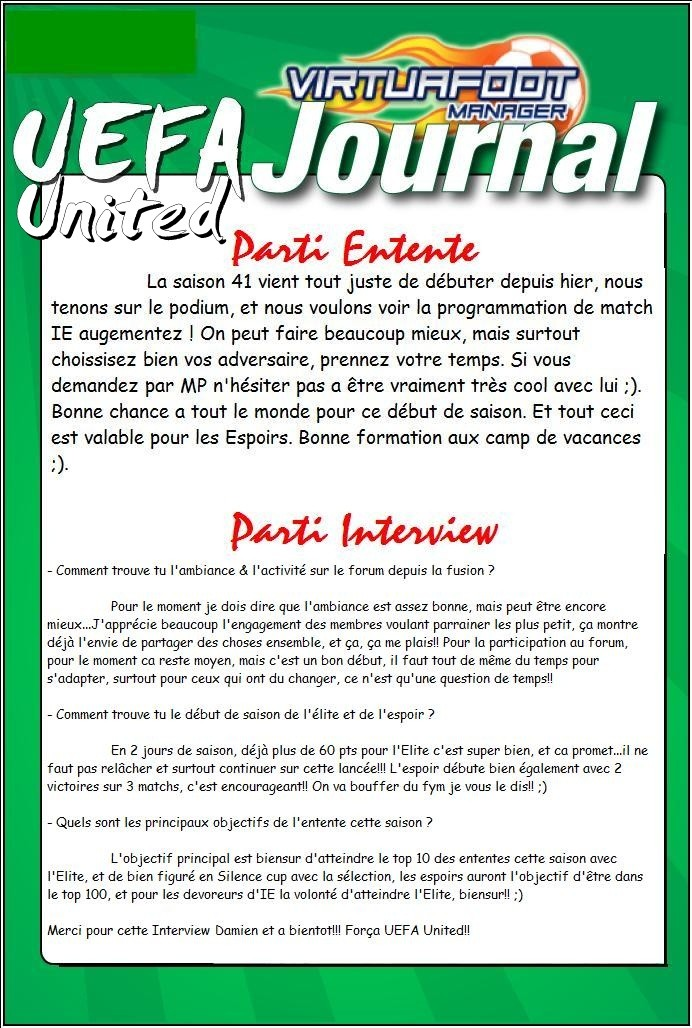 Journal UEFA United N°1 Journa10