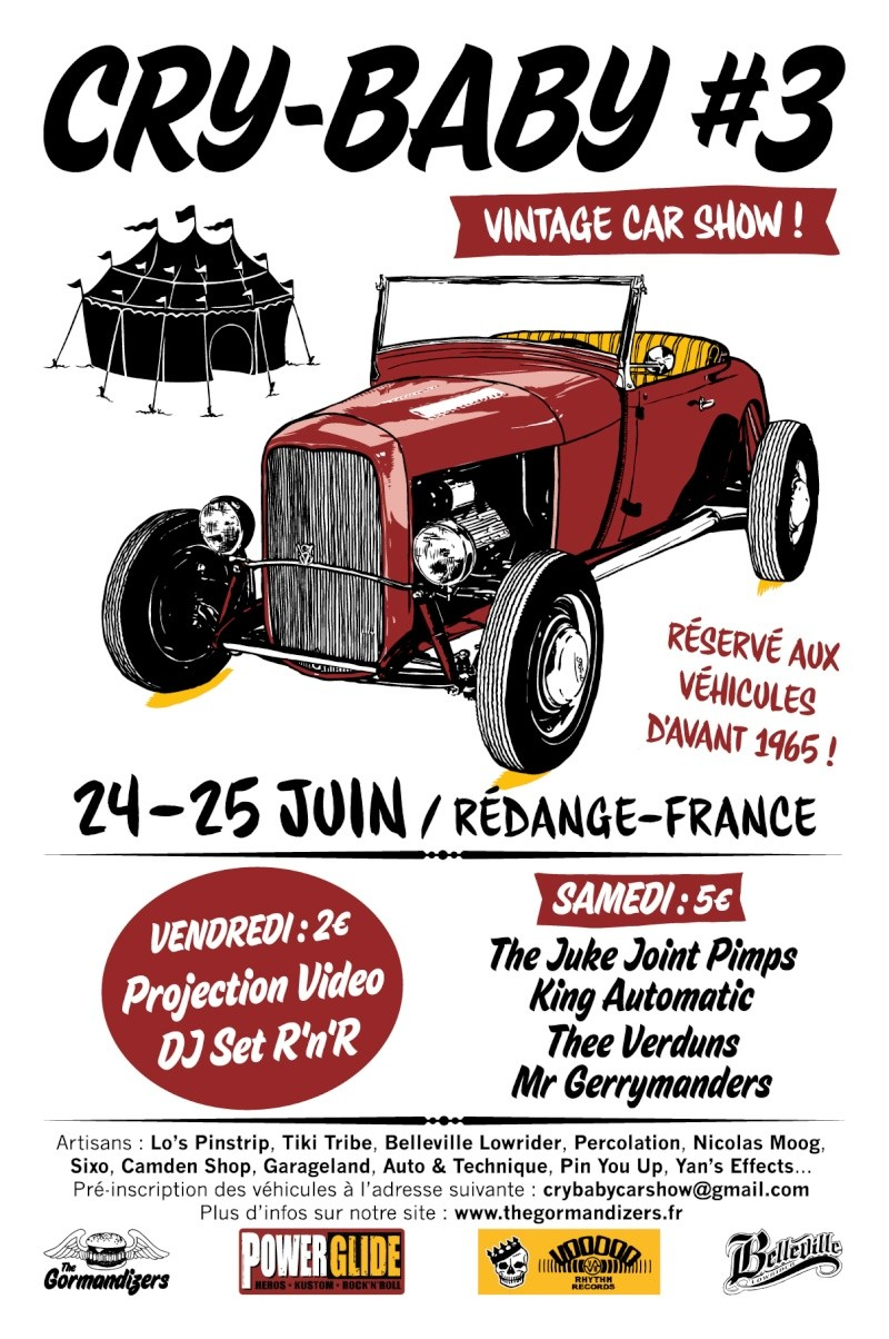 Cry-Baby car show #3 Flyer10
