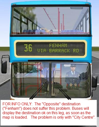 [Resolved:] Help with blank destination display (passengers ARE getting on!) 310