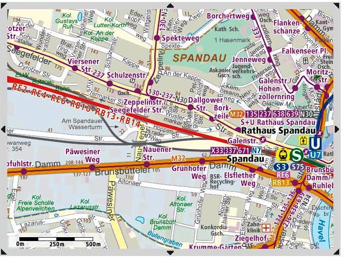 M32 Rathaus Spandau <=> Staaken Map110
