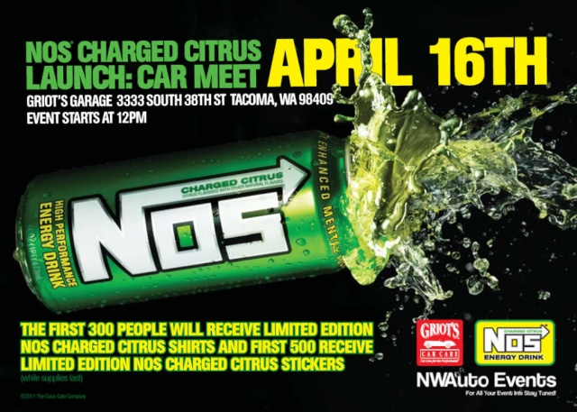 "NOS Energy Drinks ""Charged Citrus"" Launch: Griots Car Meet 4/16 Zk1evk10"