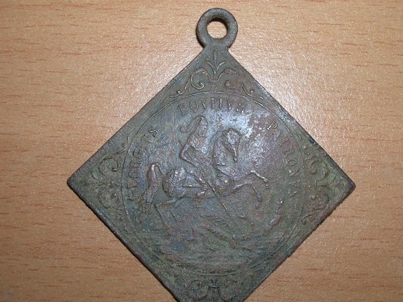 2 Médailles St-Georges / Jésus & 2 disciples en mer - XVIII ou XIXème Dscn3516