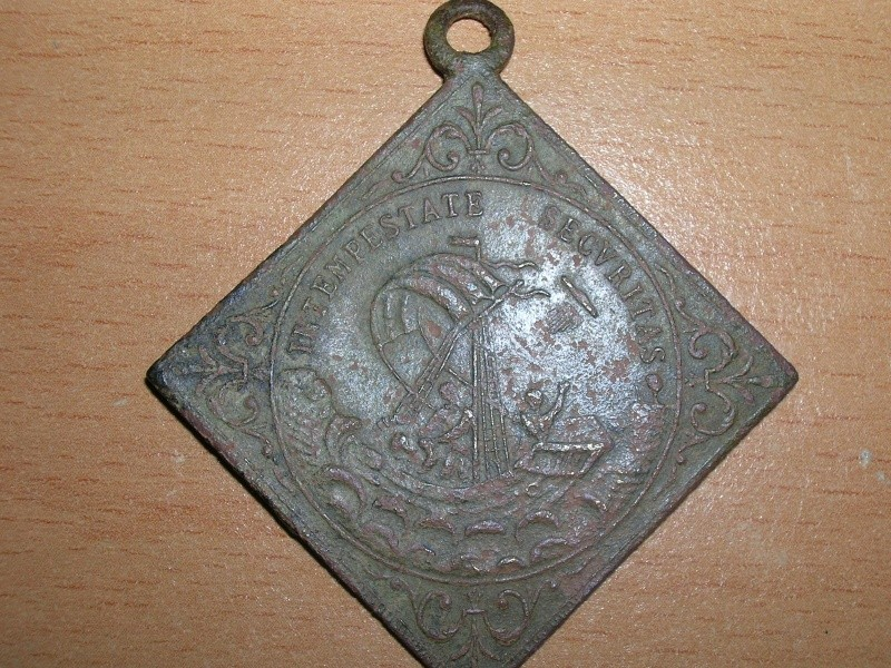 2 Médailles St-Georges / Jésus & 2 disciples en mer - XVIII ou XIXème Dscn3517