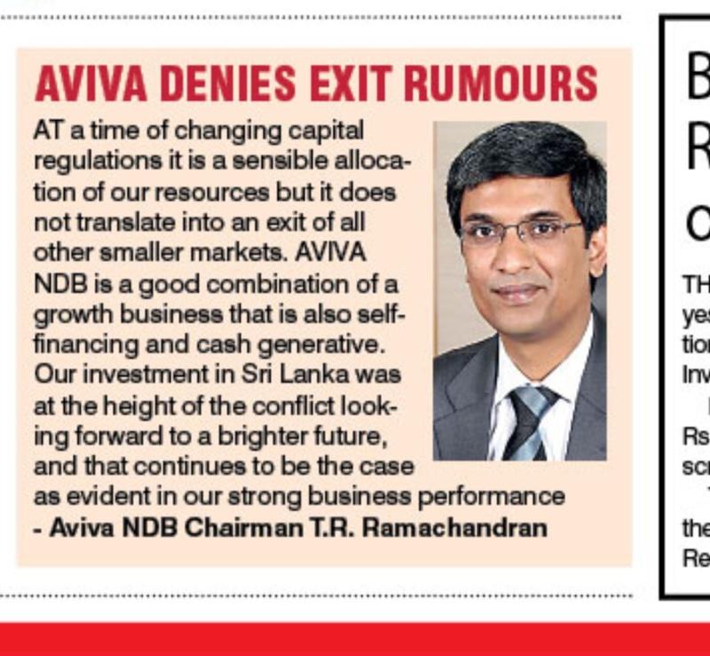 Aviva denies exit rumors Dft-1-10