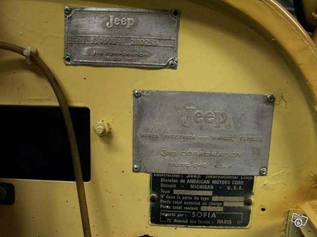 Absence de frappe à froid sur le chassis sur CJ5 de 1971 Plaque10