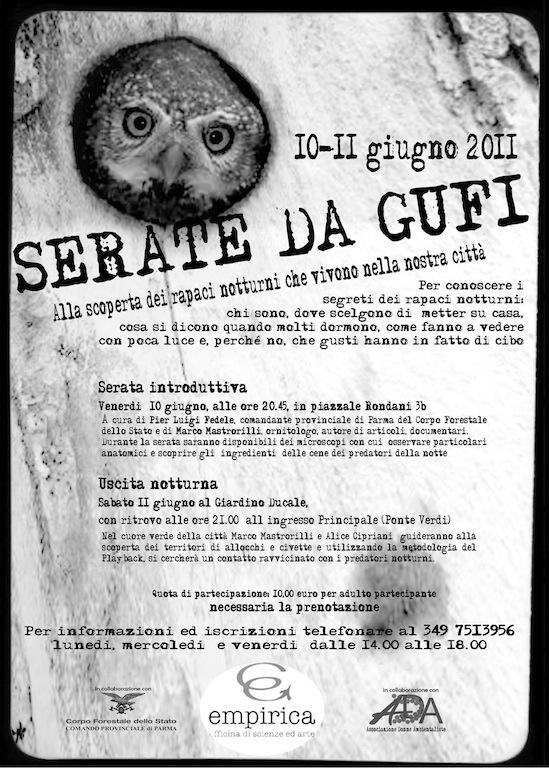 10-11 giugno: Serate da Gufi  Serate11