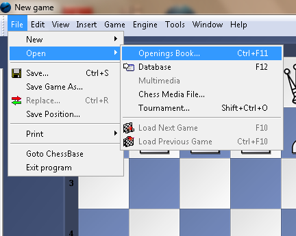how to use the opening books on my gui? Fritz111