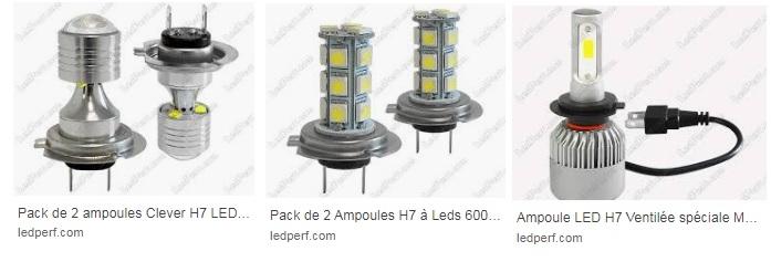 LED H7 (feux avant) Ledper10