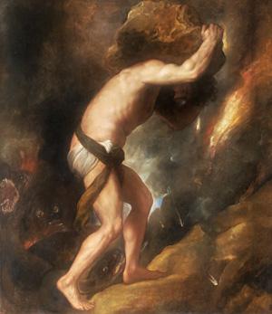 la recherche de l'énergie libre : allégorie du mythe de Sisyphe Sisyph10