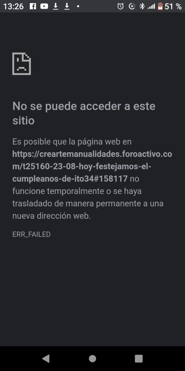 Al ingresar al foro sale un cartel que indica No se puede acceder a este sitio web 330a9e10