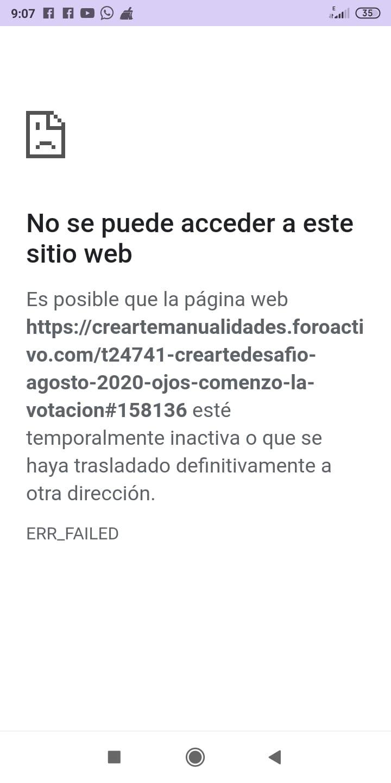 Al ingresar al foro sale un cartel que indica No se puede acceder a este sitio web 87edfd10