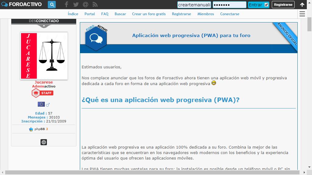 necesito mas informacion detallada con respecto a PWA Foroac10