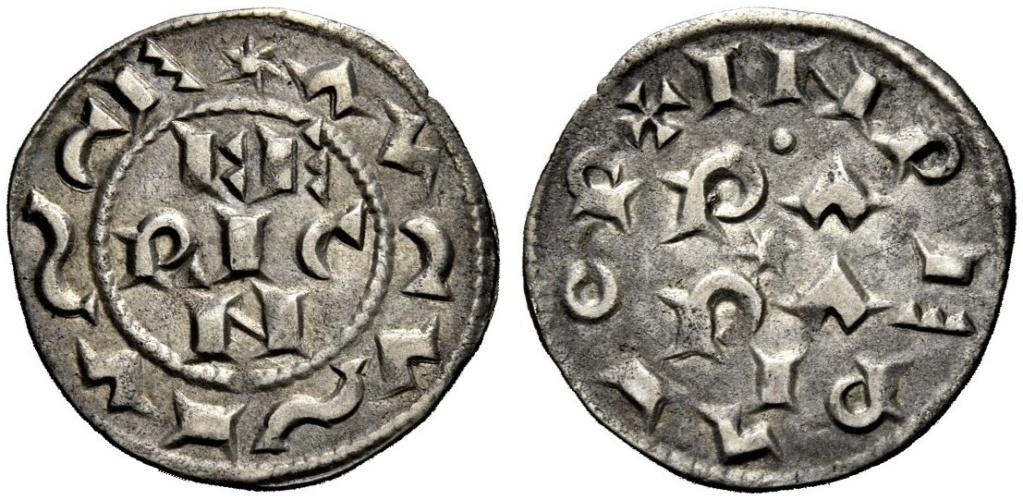 Denaro di Pavia pour Henri (Enrico) II di Franconia 1056-1106 à Pavie Image010