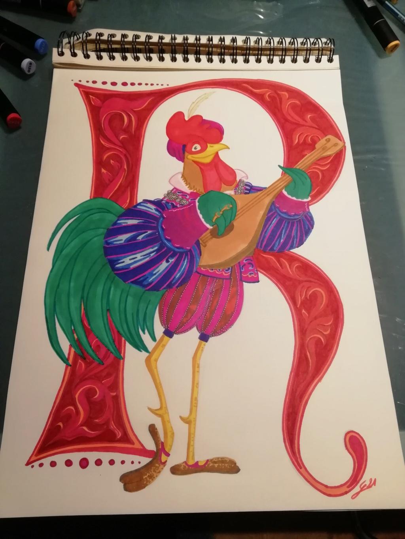 Concours de Production Artistique : Saison 18 : Thème 15 : Les gallinacés Img_2010