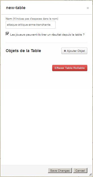 Tutoriel roll20 : tout automatiser grâce aux tables rollables et aux macros 00710