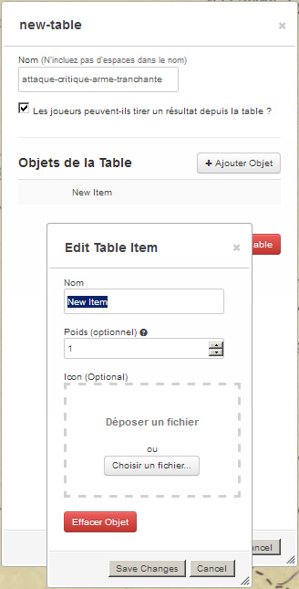 Tutoriel roll20 : tout automatiser grâce aux tables rollables et aux macros 00910