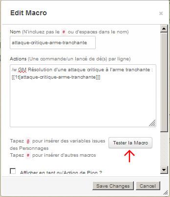 Tutoriel roll20 : tout automatiser grâce aux tables rollables et aux macros 01410