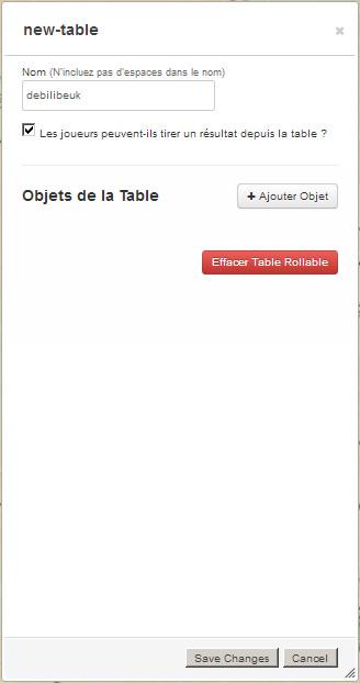 Tutoriel roll20 : tout automatiser grâce aux tables rollables et aux macros 01810
