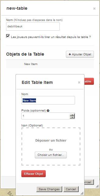 Tutoriel roll20 : tout automatiser grâce aux tables rollables et aux macros 02010