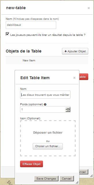 Tutoriel roll20 : tout automatiser grâce aux tables rollables et aux macros 02110