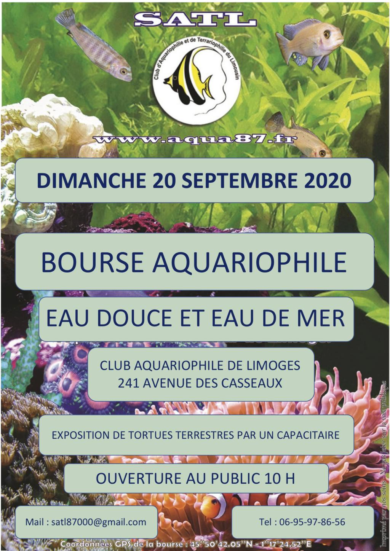 bourse aquariophile  de limoges  Affich10
