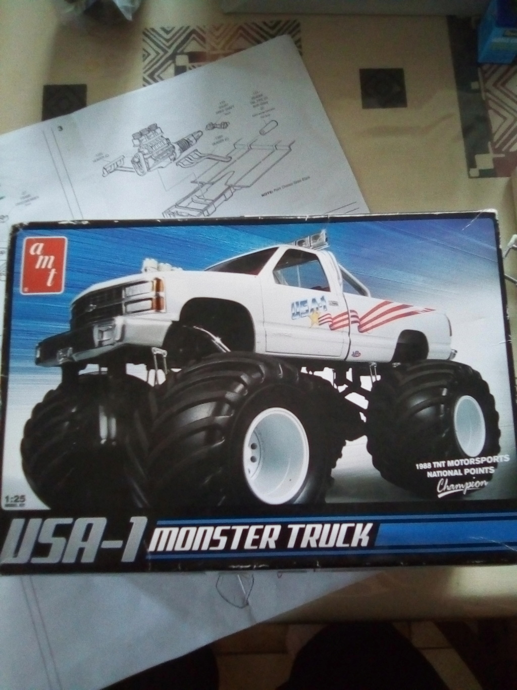 usa 1 Monster truck amt 1/25 Img_2107