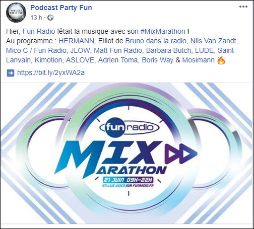 [21/06/2018] Fun Radio - Mix Marathon - Paris - France Captu100