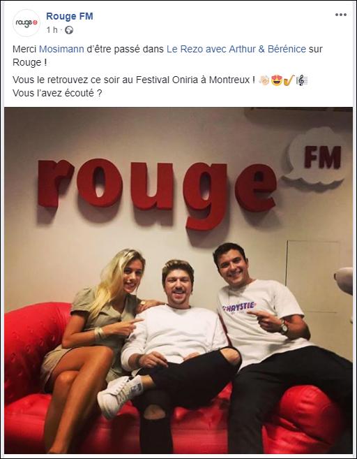 [14/09/2018/16h30] RougeFM - Mosimann sur  Rouge FM  Captu712