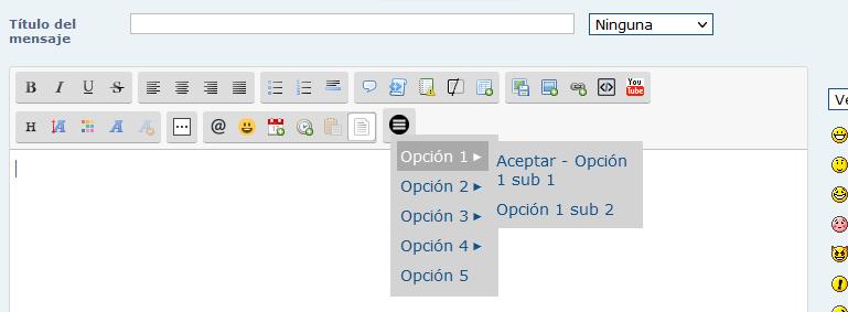 Añadir boton con menu desplegable en el editor para tablas de moderacion, de personales y otros contenidos 04_tut10