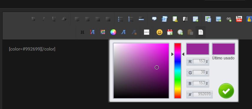 No se ven los colores avanzados ni sustitución de colores básicos ModernBB Captur37