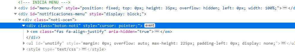Notificaciones con boton mostrar/ocultar no funciona en en otra parte que no sea el índice del foro Captur73