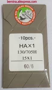 Les aiguilles de remplacement : 15x1 = 130/705H  et boitier de canette de remplacement 44aab110