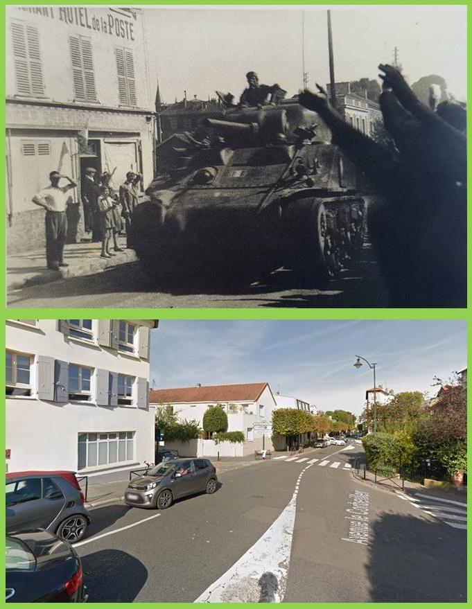 Identification de chars ayant libéré la ville de Meudon. M4a2_m10