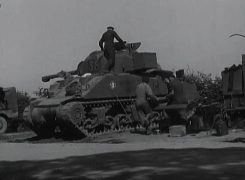 Pose de renfort blindé sur Sherman Mort-h12