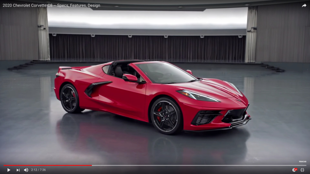 Présentation officiel de la nouvelle Corvette C8 ... Captur12
