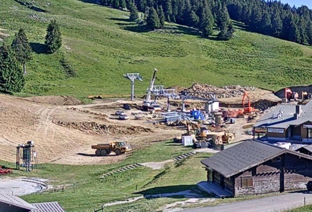 Construction TMX Belvédère, TKE Aigle & Bambi - Chantiers le Semnoz 1112