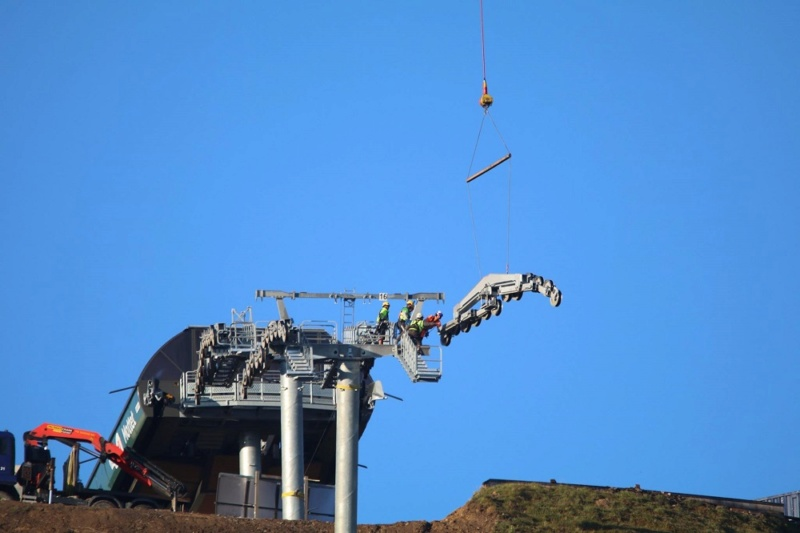 Construction télésiège débrayable (TSD6) du Mottet - Valmorel (Poma) 412