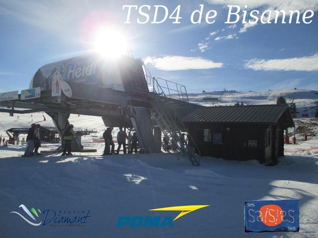 Télésiège à attache débrayables 4 places (TSD4) du Bisanne | Les Saisies (Espace Diamant) Bann210