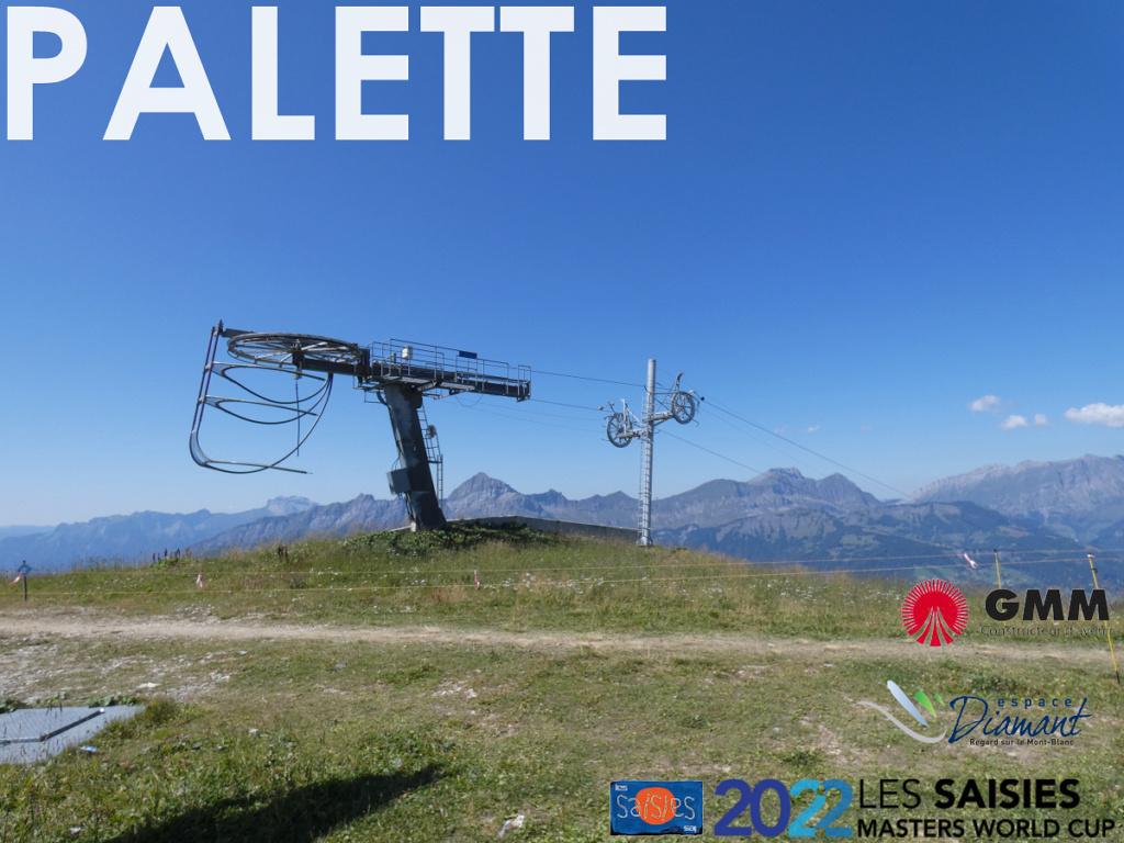 Téléski débrayable à perches 1 place (TKD1) de la Palette | Les Saisies (Espace Diamant) Banniz15